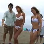 【素人ビーチナンパ】ビーチで見つけたノリが良くてヤラセてくれそうな素人ビキニギャル2人組をナンパしてホテルで乱交w