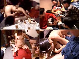 大学のヤリサー飲み会に無垢なJCを誘い廻し捲る激ヤバな乱交動画