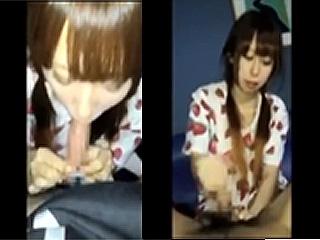 10代女子が大人チンポをフェラし捲るスマホ自撮り撮影の動画