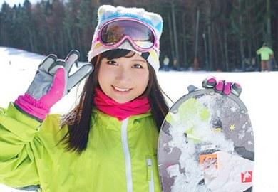 素人ナンパエッチ動画でスキー場のゲレンデで捕獲したスノボJK娘