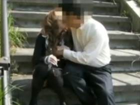 オヤジが個人撮影した愛人キャバ嬢と野外セックスしてる素人動画