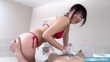 スーパー銭湯の垢すり美女がお店に内緒で手コキ・フェラ抜きのスケベ動画