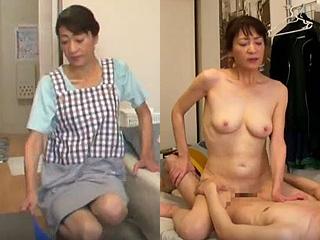 家政婦の熟女がセックスで抜いてくれる素人エッチの盗撮動画