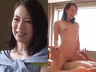 上品な人妻がデカチンに突かれて乱れて悶える素人のハメ撮り動画